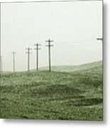 Plasticine Fields Metal Print