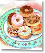 Plate Of Donuts Metal Print