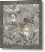 Platinum Feathers, Peacock Feathers Home Fashion Metal Print