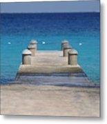 Playa Azul Dock Metal Print