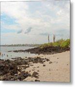 Playa De La Estacion On Santa Cruz Island In Galapagos Metal Print