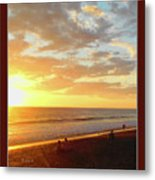 Playa Hermosa Puntarenas Costa Rica - Sunset A One Detail Two Vertical Poster Greeting Card Metal Print