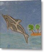 Playful Dolphin Metal Print