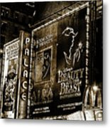 Playing At The Palace Tinted B / W Metal Print