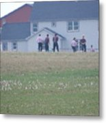 Playing Ball With Friends Metal Print