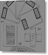 Playing Cards Patent 1889 Metal Print
