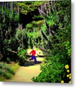 Playing In The Garden Five Metal Print