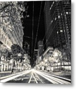 Playing In Traffic Blackout Metal Print