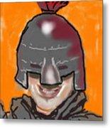 Playing Knight Metal Print