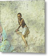 Playing On The Beach Metal Print by Jan Hattingh