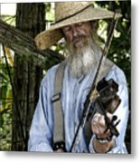 Playing The Fiddle Metal Print