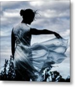 Playing With The Wind Metal Print