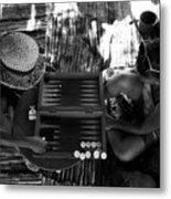 playng backgammon Sinai Egypt Metal Print