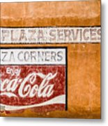 Plaza Corner Coca Cola Sign Metal Print