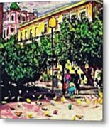 Plaza In Murcia Metal Print