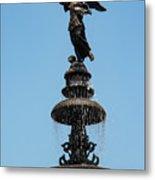 Plaza Mayor Fountain Metal Print