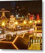 Plaza Overlook At Christmas Metal Print