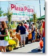 Plaza Pizza Metal Print