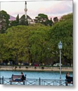 Pleasant Afternoon By Lake Pamvotis In Ioannina Metal Print