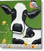 Please Don't Eat The Flowers Metal Print