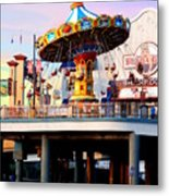 Pleasure Pier Metal Print