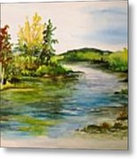 Plein Air At Grand Beach Lagoon Metal Print