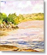 Plein Air At Pine Falls Manitoba Metal Print