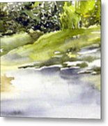 Plein Air At The Pond At Nutimik  Metal Print