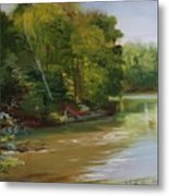 Plein Air Willow Creek Metal Print