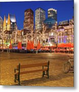 Plein Square At Night - The Hague Metal Print