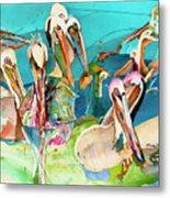 Plethora Of Pelicans Metal Print