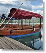 Pletna Boats Of Lake Bled Metal Print