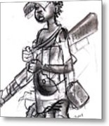 Plight Of A Child Soldier Metal Print