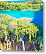 Plitvice Lakes National Park Vertical View Metal Print