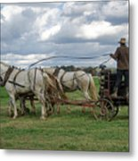 Plowing In Lancaster County Metal Print