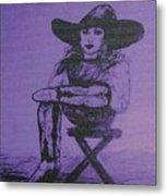 Plum Cowgirl Metal Print