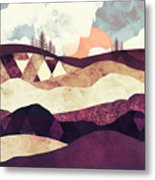 Plum Fields Metal Print