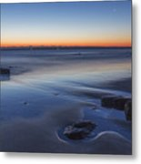 Plum Island Blue And Red Dawn Metal Print