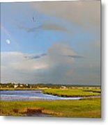 Plum Island Rainbow Metal Print