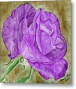 Plum Passion Rose Metal Print