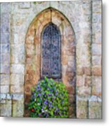 Plumergat, Brittany,france, Parish Church Window Metal Print