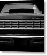Plymouth Fury - Black Metal Print