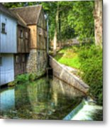 Plymouth Grist Mill Metal Print