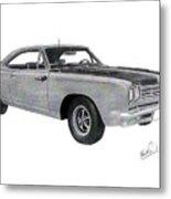 Plymouth Road Runner 1969 Metal Print