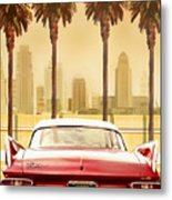 Plymouth Savoy With Palm Trees Metal Print