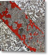 Pockmarked Concrete Metal Print