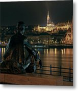 Poet On The Danube Metal Print