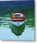 Coastal Wall Art, Poetic Light, Fishing Boat Paintings Metal Print
