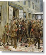 Pogrom Of Wine Shop Metal Print