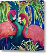 Poin And Settia Dine At The Palm Metal Print
